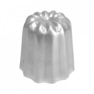 Moule à cannelés en aluminium poli Ø 45 mm