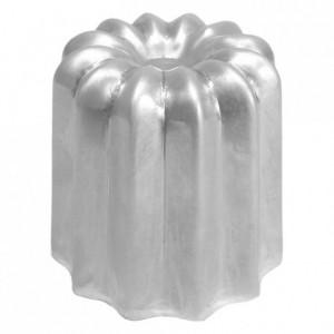 Moule à cannelés en aluminium poli Ø 55 mm