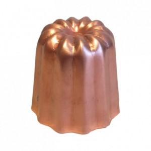 Mould for cannelés non polished copper Ø 45 mm