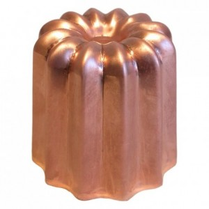 Mould for cannelés non polished copper Ø 55 mm