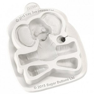 Katy Sue Mould Sugar Buttons Character - Baby Elephant