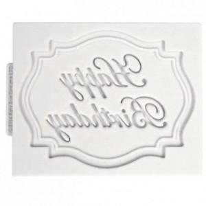 Moule Katy Sue mini plaque Joyeux Anniversaire