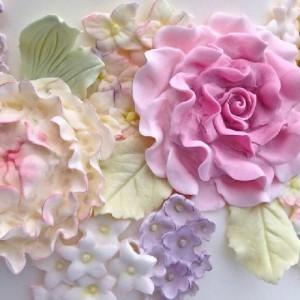 Moule silicone Karen Davies 4 fleurs