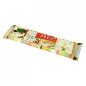 Nougat tendre amande fruits confits barre 100 g