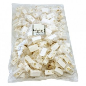 Soft Montélimar Nougat twist wrapped cubs 8 kg