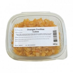 Candied orange cubes 250 g