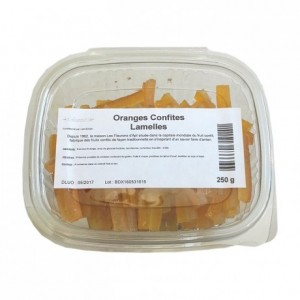 Candied orange strips 250 g