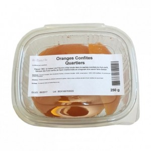 Candied orange quarters 250 g