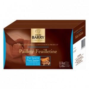Pailleté Feuilletine pur beurre brisures de crêpes dentelles 2,5 kg