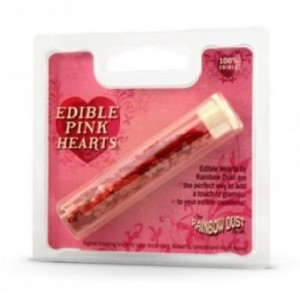 Paillettes alimentaires Rainbow Dust coeur rose