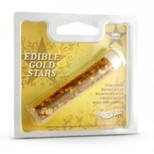 Paillettes alimentaires Rainbow Dust étoiles dorées