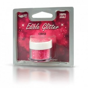 Paillettes alimentaires Rainbow Dust cerise 5 g