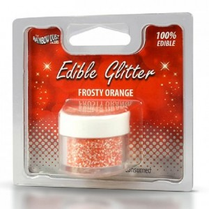 Paillettes alimentaires Rainbow Dust Frosty Orange 5 g
