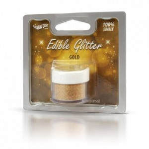 Paillettes alimentaires Rainbow Dust or 5 g
