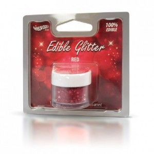 Paillettes alimentaires Rainbow Dust rouge 5 g