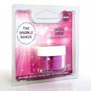 Paillettes décoratives scintillantes Crystal Rainbow Dust Cerise 5 g