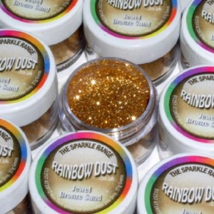 Paillettes décoratives scintillantes Jewel Rainbow Dust Bronze Sand 5 g