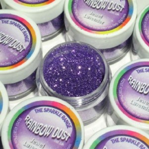 Paillettes décoratives scintillantes Jewel Rainbow Dust Jet Lavender 5 g