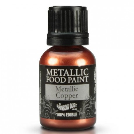 Peinture alimentaire Rainbow Dust Metallic Copper 25 ml