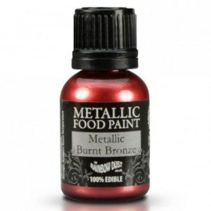 Peinture alimentaire Rainbow Dust Burnt Metallic Bronze 25 ml