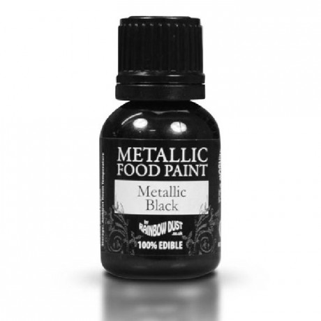 Peinture alimentaire Rainbow Dust Metallic Black 25 ml