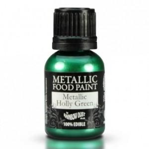 Peinture alimentaire Rainbow Dust Metallic Holly Green 25 ml