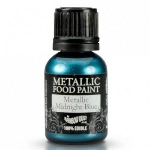 Peinture alimentaire Rainbow Dust Metallic Midnight Blue 25 ml