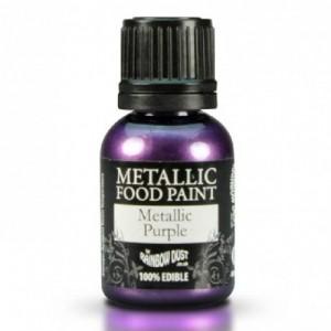 Peinture alimentaire Rainbow Dust Metallic Purple 25 ml