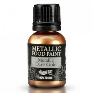 Peinture alimentaire Rainbow Dust Metallic Dark Gold 25 ml