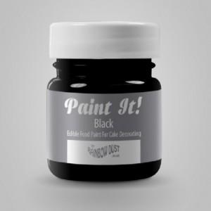 Peinture alimentaire Rainbow Dust Paint It! Black 25 ml