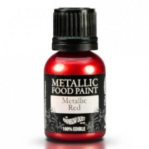 Peinture alimentaire Rainbow Dust Metallic Red 25 ml