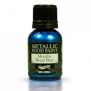 Peinture alimentaire Rainbow Dust Metallic Royal Blue 25 ml