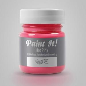 Peinture alimentaire Rainbow Dust Paint It! Hot Pink 25 ml