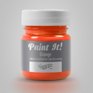 Peinture alimentaire Rainbow Dust Paint It! Orange 25 ml