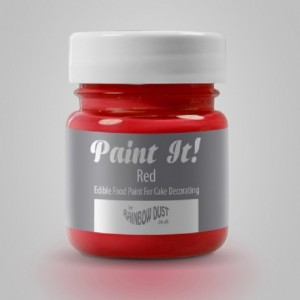 Peinture alimentaire Rainbow Dust Paint It! Red 25 ml