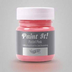 Peinture alimentaire Rainbow Dust Paint It! Pastel Pink 25 ml