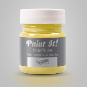 Peinture alimentaire Rainbow Dust Paint It! Pastel Yellow 25 ml