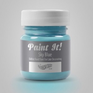 Peinture alimentaire Rainbow Dust Paint It! Sky Blue 25 ml