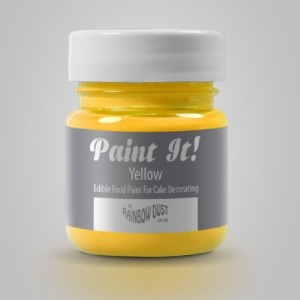Peinture alimentaire Rainbow Dust Paint It! Yellow 25 ml