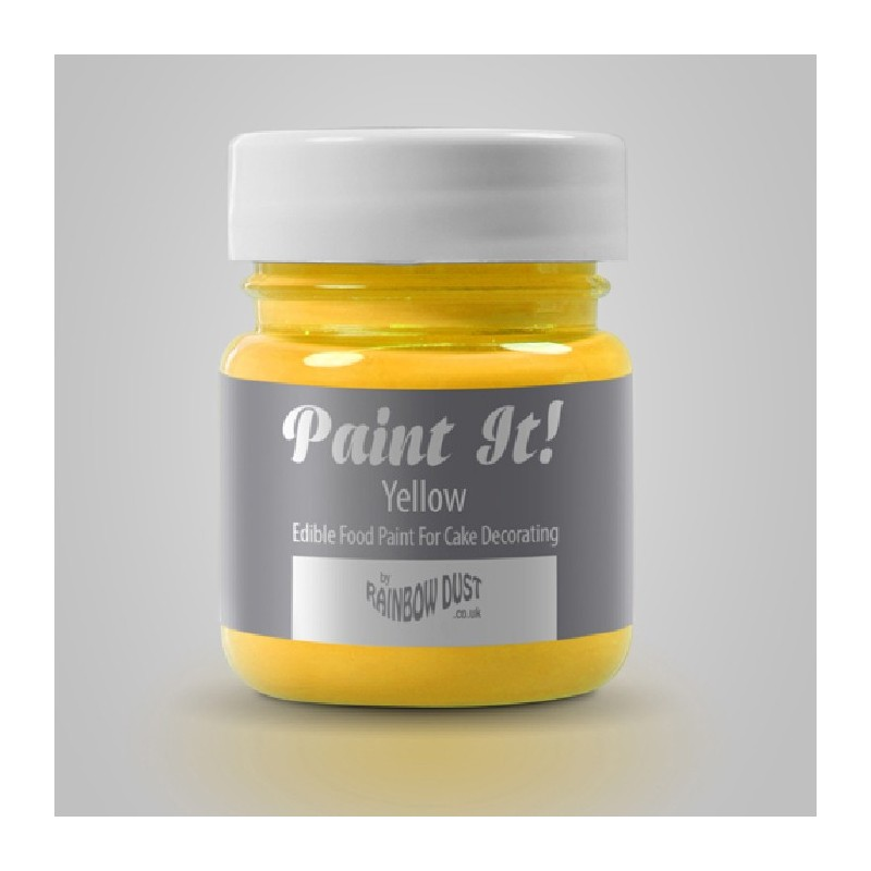 rainbow dust peinture alimentaire rainbow dust paint it yellow 25 ml. Black Bedroom Furniture Sets. Home Design Ideas
