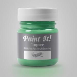 Peinture alimentaire Rainbow Dust Paint It! Turquoise 25 ml