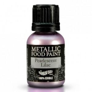 Peinture alimentaire Rainbow Dust Pearlescent Lilac 25 ml