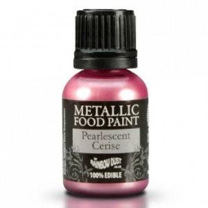 Peinture alimentaire Rainbow Dust Pearlescent Pearlescent Cerise 25 ml