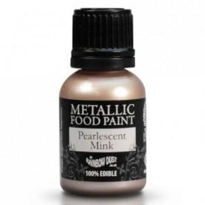 Peinture alimentaire Rainbow Dust Pearlescent Pearlescent Mink 25 ml