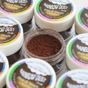 Plain & Simple Brown Rainbow Dust Chocolate 2 g