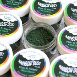 Plain & Simple Green Rainbow Dust Olive Green 3,5 g