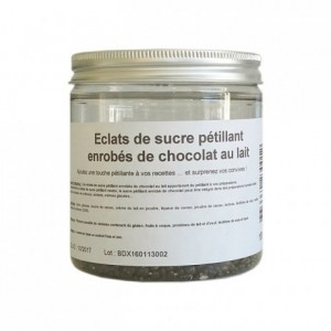 Sucre pétillant enrobé de chocolat au lait 100 g