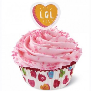 Caissettes à cupcakes Wilton Combo Words Can Express (lot de 24)