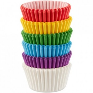 Caissettes à mini cupcakes Wilton arc-en-ciel (lot de 150)