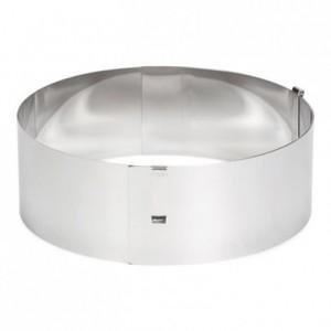 Cercle à pâtisserie réglable Patisse hauteur 7 cm